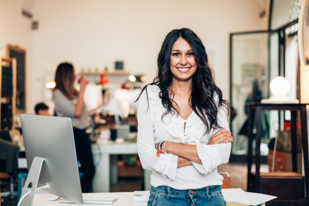 business owners smiling woman WordPress